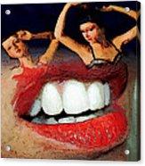 Dancing Lips Acrylic Print