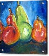 Dancing Pears Acrylic Print