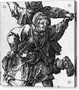 Dancing Peasants 1514 - Albrecht Durer Acrylic Print