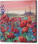 Dancing Poppies Acrylic Print by Andrei Attila Mezei