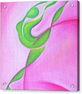 Dancing Sprite In Pink And Green Acrylic Print