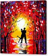 Dancing Sunset Original Painting Acrylic Print