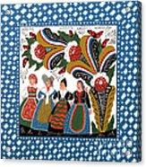 Dancing Women Acrylic Print
