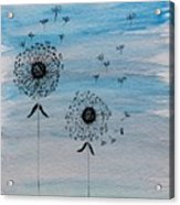 Dandelion Wind Acrylic Print