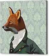 Dandy Fox Portrait Acrylic Print