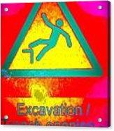 Danger Of Falling Acrylic Print