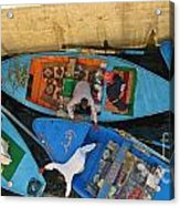 Dangerous Manouvers At The Nile River Canal Locks Acrylic Print