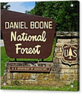 Daniel Boone Acrylic Print by Frozen in Time Fine Art Photography