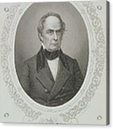Daniel Webster, From The History Of The United States, Vol. II, By Charles Mackay, Engraved By T Acrylic Print