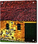 Danish Barn Impasto Version Acrylic Print by Steve Harrington