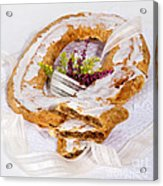 Danish Pastry Ring With Pecan Filling Acrylic Print