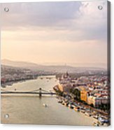Danube Sunset Acrylic Print