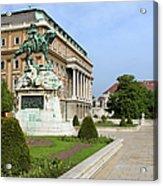 Danube Terrace At Buda Castle In Budapest Acrylic Print