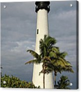 Dark Clouds Over Cape Florida Acrylic Print
