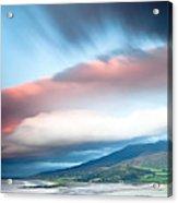 dark clouds over Irish coast Dingle peninsula Acrylic Print