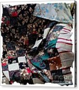 Dark Colored Blocks Patchwork Quilt  Acrylic Print