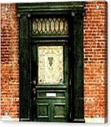 Dark Green Doorway Photograph Print Acrylic Print