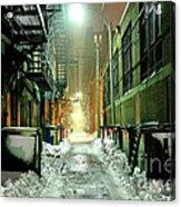 Dark Gritty Alleyway Acrylic Print