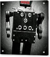Dark Metal Robot Oil Acrylic Print