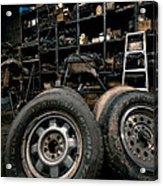 Dark Old Garage Acrylic Print by Amy Cicconi