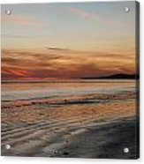 Dark Red Beach Sunset Acrylic Print