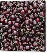 Dark Red Cherries In A Market Display Acrylic Print