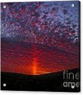 Dark Red Sunset Acrylic Print
