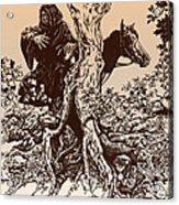 Dark Rider-tolkien Appreciation Acrylic Print