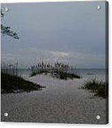 Dark Skies Over The Beach Acrylic Print