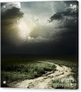 Dark Storm Cloud Acrylic Print by Boon Mee