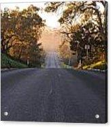 Dark To Light Road Acrylic Print