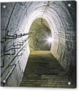 Dark Tunnel And Staircase Acrylic Print
