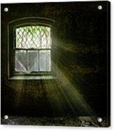Darkness Revealed - Basement Room Of An Abandoned Asylum Acrylic Print