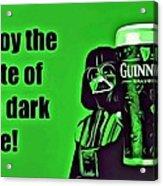 Darth Drinks Guinness Acrylic Print
