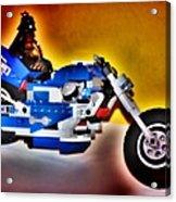 Darth Vader Rides A Harley  Hdr Acrylic Print