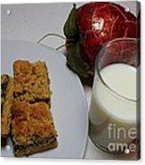 Date Squares - Snack - Dessert - Milk Acrylic Print
