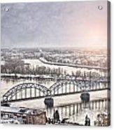 Daugava Railway Bridge Acrylic Print