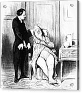 Daumier: Doctor Cartoon Acrylic Print