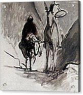 Daumier: Don Quixote Acrylic Print