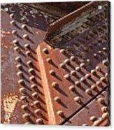 Davenport Railroad Bridge Beam V Acrylic Print