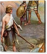 David And Goliath Acrylic Print by Arthur A Dixon