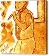 David Archuletta Gold Acrylic Print
