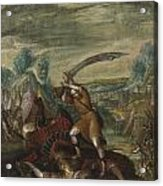 David Beheading Goliath Acrylic Print