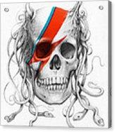 David Bowie Aladdin Sane Medusa Skull Acrylic Print