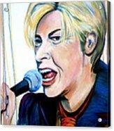 David Bowie Acrylic Print by Debi Starr