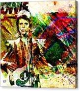 David Bowie Original Painting Print Acrylic Print