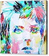 David Bowie - Watercolor Portrait.6 Acrylic Print