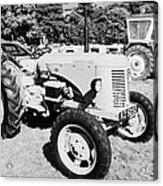 david brown 25D classic tractor during vintage tractor rally at glenarm castle open day county antrim northern ireland Acrylic Print