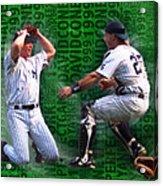 David Cone Yankees Perfect Game 1999 Zoom Acrylic Print