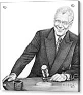 David Letterman Acrylic Print